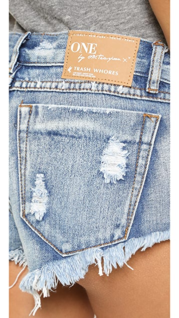 One Teaspoon Cobain Trash Shorts