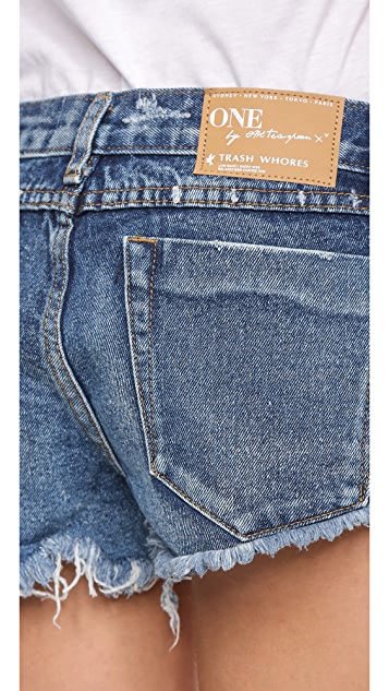 One Teaspoon 1955 Shredded Shorts