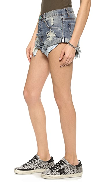 One Teaspoon Dusty Bandits Shorts