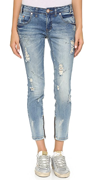 One Teaspoon Blue Blonde Freebird Jeans