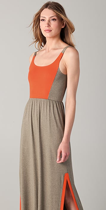 Only Hearts Color Block Side Vent Dress