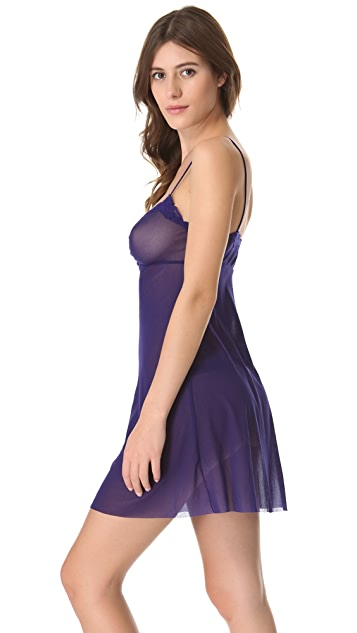 Only Hearts Ruched Front Chemise with Lace