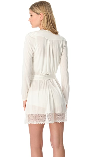 Only Hearts Venice Short Robe with Lace