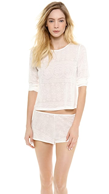 Only Hearts Lace Crop Tee