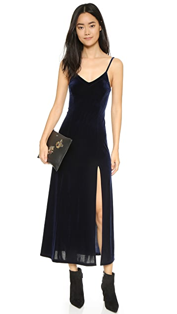 Only Hearts Long Velvet Slip Dress