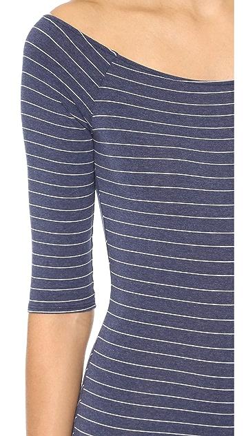 Only Hearts Stripe Off Shoulder Bodysuit