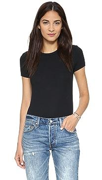 Rib T-Shirt Bodysuit