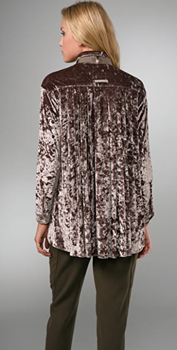 Opening Ceremony Pleated Back Blouse