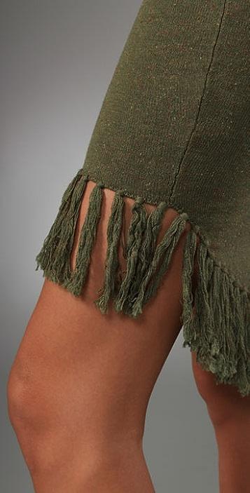 Opening Ceremony Fishtail Fringe Skirt