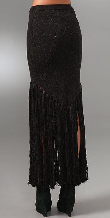 Opening Ceremony Fishtail Long Fringe Skirt