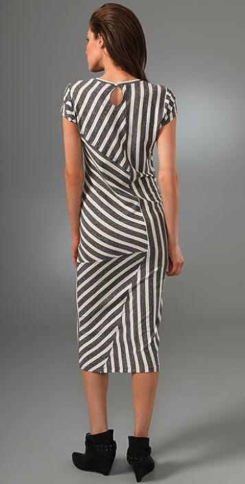 Opening Ceremony Pieced Stripe Long Dress