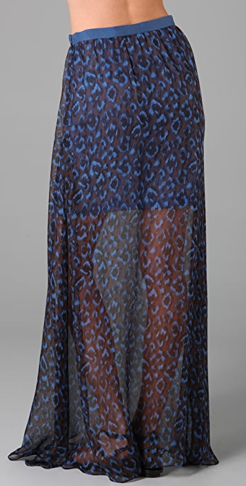 Opening Ceremony Silk Long Skirt