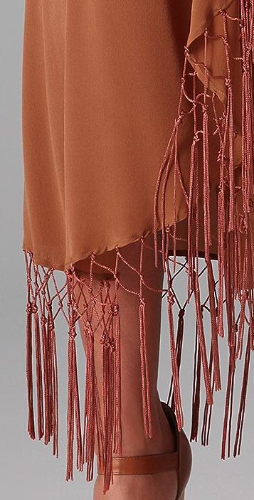 Opening Ceremony Fringe Long Skirt