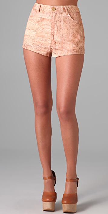 Opening Ceremony Cork Print Shorts