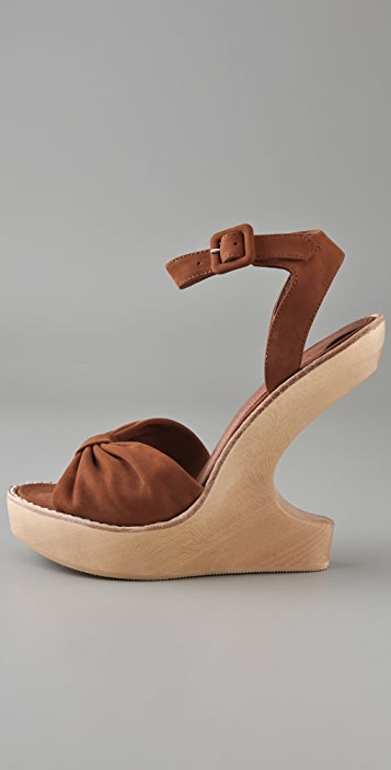 Opening Ceremony Violet Knot Wedge Sandals