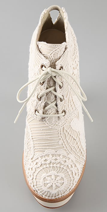 Opening Ceremony Chantal Lace Platform Booties