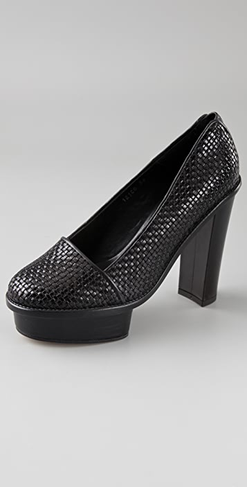 Opening Ceremony Chantal Woven Platform Pumps
