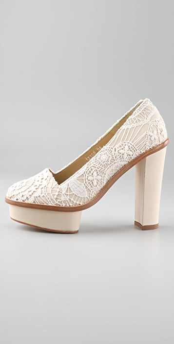 Opening Ceremony Chantal Lace Platform Pumps