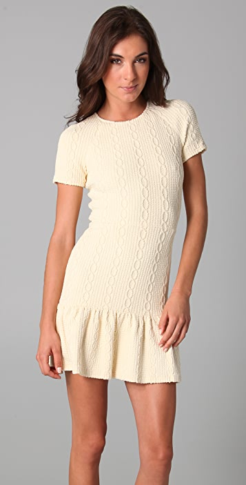 Opening Ceremony Dropped Ruffle T-Shirt Dress
