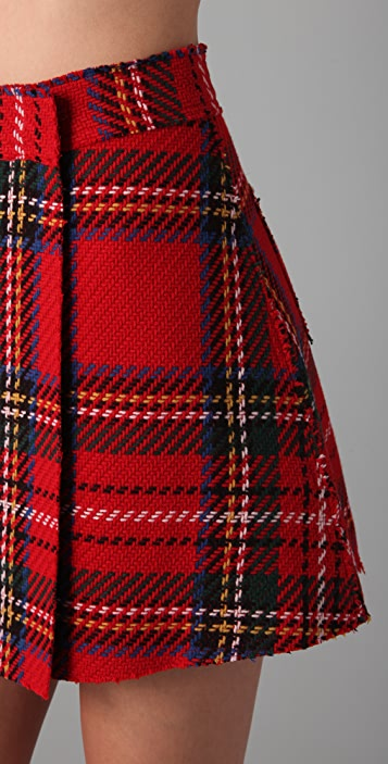 Opening Ceremony Plaid A Line Skirt
