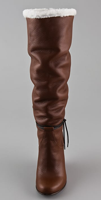 Opening Ceremony Agyness Tall Wedge Boots