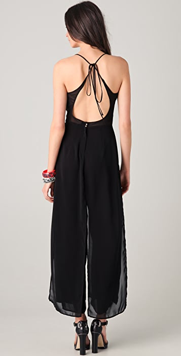 Opening Ceremony Sheer Overlapped Jumpsuit