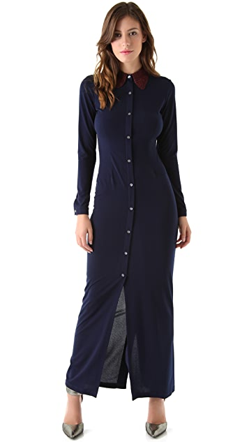 Opening Ceremony Shirt Collar Maxi Dress