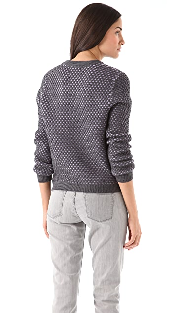 Opening Ceremony Bicolor Honeycomb Pullover