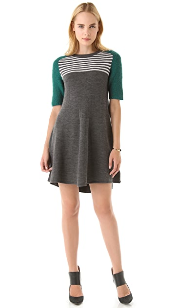 Opening Ceremony Contrast Sleeves Dress
