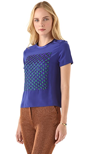 Opening Ceremony Beaded Silk Tee