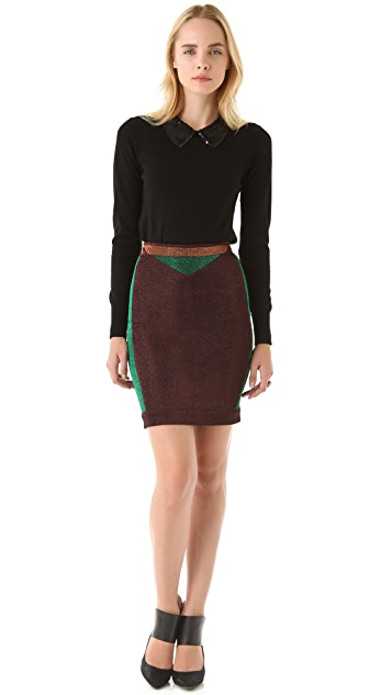 Opening Ceremony Metallic Pencil Skirt