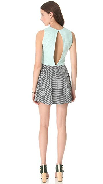 Opening Ceremony Seamed Cross Panel Dress