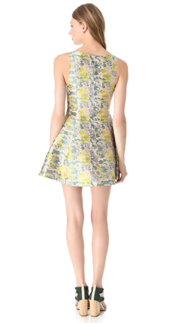 Opening Ceremony Plunge Jacquard Dress
