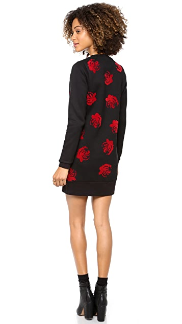 Opening Ceremony Lucky Rose Sweatshirt Dress