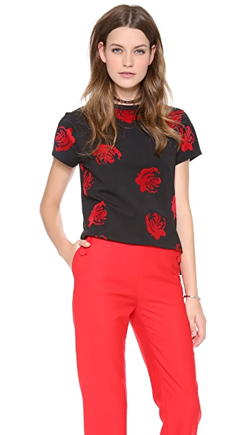Opening Ceremony Lucky Rose Boxy Tee