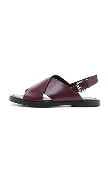 Opening Ceremony Crisscross Flat Sandals
