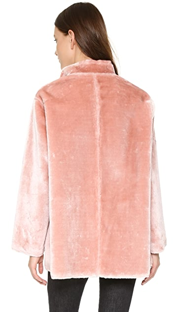 Opening Ceremony Faux Fur Reversible Coat
