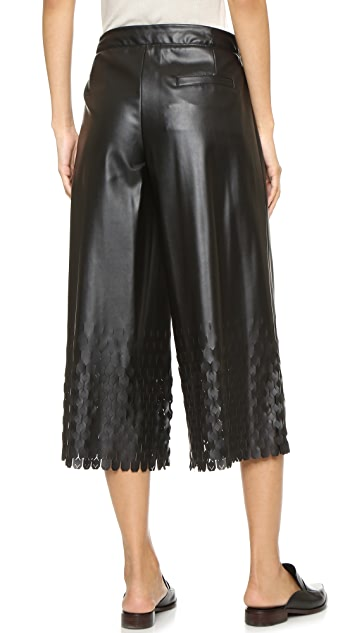 Opening Ceremony Laser Cut Culotte Pants