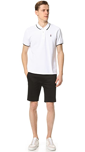 Opening Ceremony Mesh Tape Inseam Slim Fit Shorts