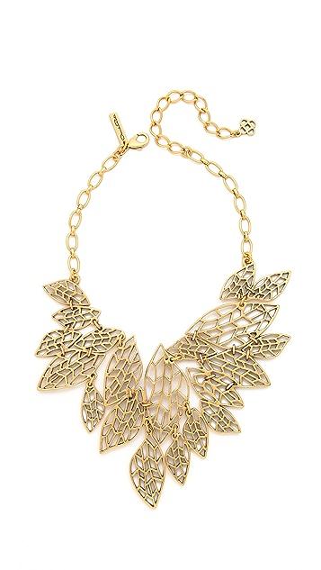 Oscar de la Renta Multi Leaf Bib Necklace