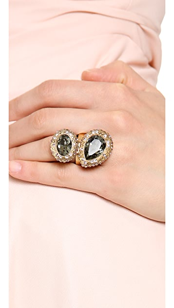 Oscar de la Renta Bold Paved Resin Ring