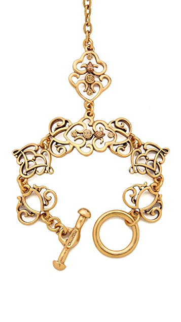 Oscar de la Renta Bracelet with Ring Attached