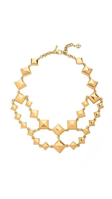 Oscar de la Renta Pyramid Stud Necklace