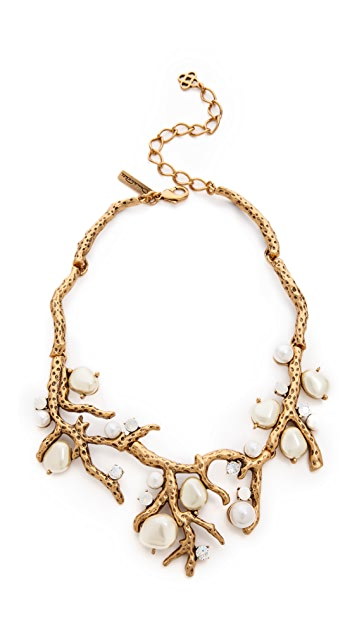 Oscar de la Renta Coral Necklace