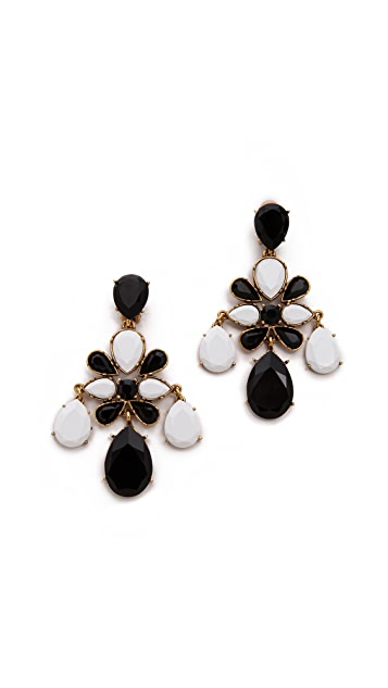 Oscar de la Renta Iconic Chandelier Clip On Earrings