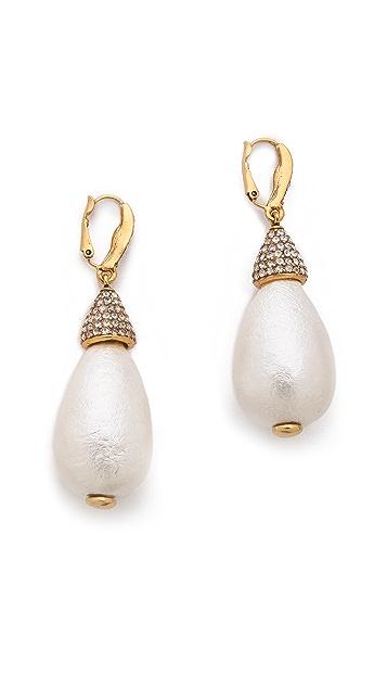 Oscar de la Renta Drop Earrings
