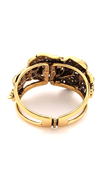 Oscar de la Renta Carved Rose Bracelet