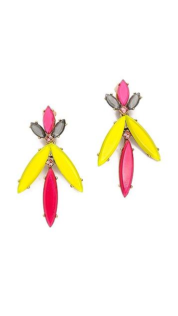 Oscar de la Renta Marquise Stone Resin Earrings