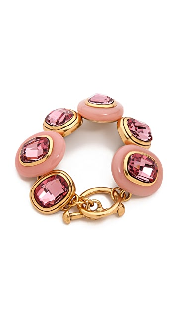 Oscar de la Renta Crystal and Resin Bracelet