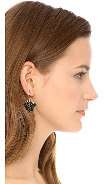 Oscar de la Renta Cutout Dangle Earrings